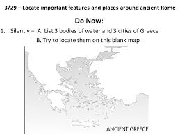 bodies of water list 3 29 locate important features and places around ancient rome do