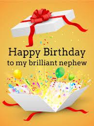 free birthday card to my brilliant nephew birthday card birthday greeting cards