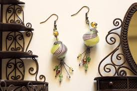 dangling diy beaded oriental evening earrings pictures photos