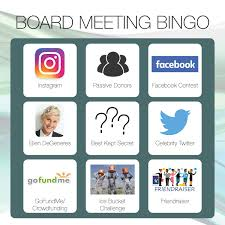 Board Meeting Meme - board meeting bingo envision consulting