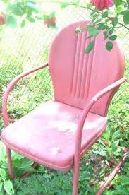 Retro Metal Patio Chairs Double Metal Glider Hunter Green Tulip Retro Lawn Chair Metal
