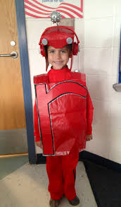 Robot Costume Halloween Letterland Red Robot Costume Boys Robot