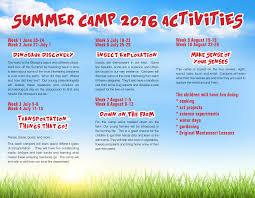summer camps 2016 montessori academy at belmont greene