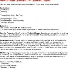technical support cover letter example for resume technical x