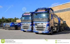 new volvo commercial new volvo fh tank trucks on a yard editorial stock image image