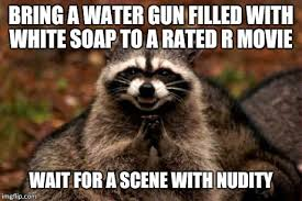 R Rated Memes - evil plotting raccoon meme imgflip