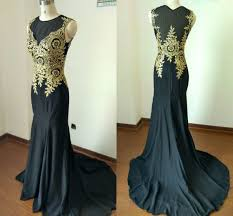 Black And Gold Lace Prom Dress Dress Euro Picture More Detailed Picture About Actual Images