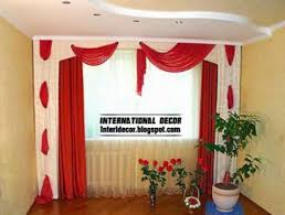 unique window curtains red curtains and window treatments in the interiors
