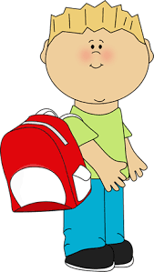 boy clipart school boy wearing a backpack clip picto s