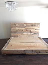 Wood Platform Bed Reclaimed Wood Platform Bed Base Pallet
