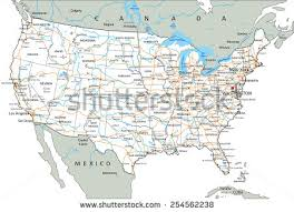 highway map of the united states us interstate highway map stock vector 153148745