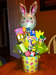 balloon and candy bouquets large easter candy bouquet with bunny balloon candy bouquets
