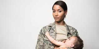 Work Clothes For Nursing Moms Air Force Mom Breastfeeding In Uniform Is A Stunning Look At