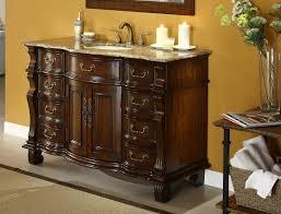 50 Inch Double Sink Vanity Adelina 50 Inch Antique Bathroom Vanity Brown Marble Countertop