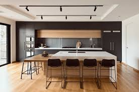 kitchen black kitchen ideas features black and wood cabinets with