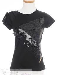 louis vuitton black sequin floral t shirt top fr 36 xs tet a tet