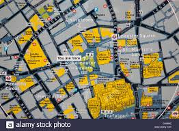 Map Of London England by England London Leicester Square Tourist Information Map Stock