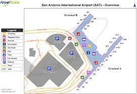 Map International San Antonio San Antonio International Sat Airport Terminal