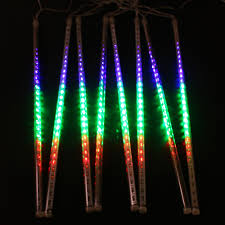 multi colored led christmas lights 8pcs set multi color 50cm meteor shower rain tube outdoor led