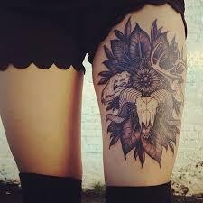 the 25 best skull thigh tattoos ideas on pinterest tattoo