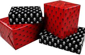 skull wrapping paper the spooky vegan and horror inspired wrapping