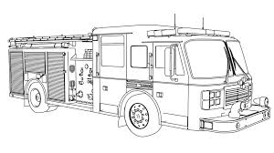 extraordinary fire truck coloring page easy for kids free