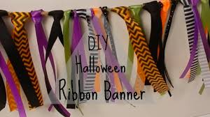 diy halloween ribbon banner youtube