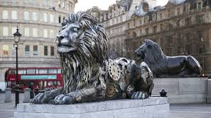 lion statues london s new clockwork lion statue evokes ticking clock for big cats
