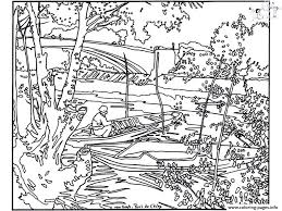 van gogh pont de clichy coloring pages printable