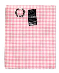 Pink Gingham Curtains 100 Cotton Ready Made Curtains Gingham Check3 Check Pink Eyelet