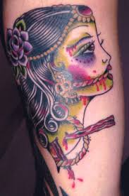 143 best sugar skull tattoos u0026 designs images on pinterest