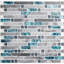 Glass And Stone Backsplash Tile by Gray Marble Backsplash Tiles Sea Glass Blue Wave Patterns Nature Stone