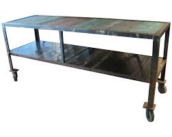 my industrial look kitchen island and that time i messed up image of antique industrial kitchen island table on wheels