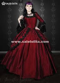 wedding dress maroon 19th century wine antoinette renaissance vire