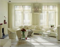 Two Tone Cream And Purple Curtains For Living Room With Layered - Curtain design for living room