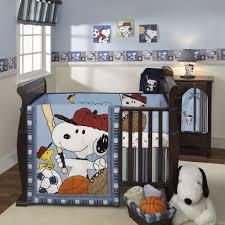 Sports Themed Crib Bedding Baby Boy Themed Rooms Idea Snoopy Sports Crib Bedding Vintage