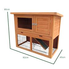 Rabbit Hutch Designs 3ft Outdoor Rabbit Hutch And Run With 2 Two Tier Wooden Guinea Pig