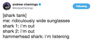Shark Tank Meme - andrew chamings following shark tank me ridiculously wide