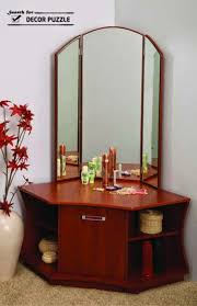 Corner Vanity Table Special Contemporary Corner Dressing Table Styles For Small