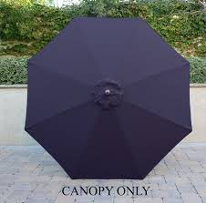 8 Ft Patio Umbrella Market Patio Umbrella Replacement Cover Olefin Canopy 8 Ribs Navy Blue
