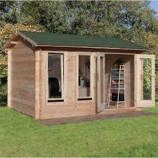 wooden log cabin forest garden chiltern wooden log cabin 4x3m at homebase co uk
