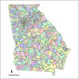 ga zip code map editable map with counties zip codes illustrator pdf