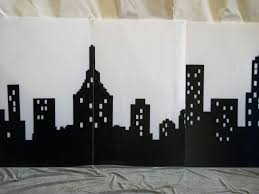 cityscape backdrop new york and broadway