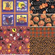 halloween fabric bundle six halloween cotton fabrics in yardage