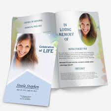 funeral program template minimal color funeral phlets