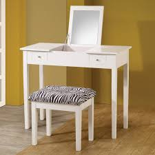 Vanity Table And Stool Set Modern White Lift Top Make Up Table Vanity Set Study Desk W Zebra
