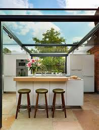 Kitchens Extensions Designs by Dreamy 18th Century English Cottage Acquires An Inspired Glass Box