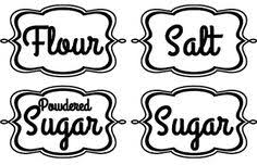 kitchen canister labels custom kitchen canister labels free printables