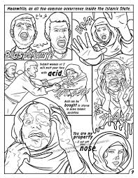 comic books anti isis coloring book comic culture of evil