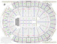 Mohegan Sun Arena Floor Plan Shania Twain Seating Map 112b7d445a Jpg 3172 2220 Concert Seat